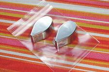 2 silberne Schaltknöpfe THORENS TD160  147  145  166... NOS mit Lagerspuren