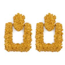 Fashion Women Rose Gold Silver Rectangle Geometric Dangle Drop Earrings Jewelry