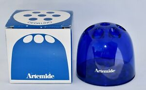 Rare! Boxed ARTEMIDE DEDALINO Emma Gismondi Schweinberger Blue Pen Holder - Desk