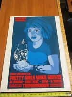 2006 Rock Roll Concert Poster Pretty Girls Make Graves Brian Ewing S/N#300