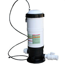 Off-Line Swimming Pool Dispenser Chlorinator Feeder w/ Flow Control Valve 65lbs