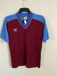 Vintage Erima Football Shirt Claret & Blue - S
