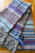 Polo Ralph Lauren Fair Isle 100% Wool Knit Scarf 76x7 Men Women Muffler 2-ply