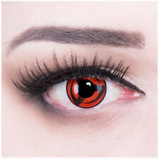 "Coloured Contact Lenses ""Mangekyou Sharingan""Manga Cosplay Halloween + Free Case"