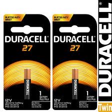 Twin Pack Duracell MN27 A27 27A 8LR732 GP27A L828 12V Alkaline Battery Batteries