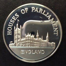 1971 Houses of Parliament Franklin Mint Wonders of Mankind Silver Round A5372