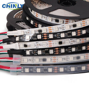 Flexiable Waterproof Addressable LED Pixel Strip Lights DC12V WS2811 RGB SMD5050