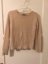 South Korea Onna Beige Tan Knit Sweater Size Small