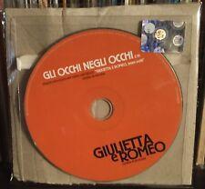 Giulietta e Romeo Opera Popolare Gli Occhi Negli Occhi di Cocciante Cd Singre Pr