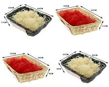 Hamper Kit  Christmas Gift Packaging Wicker Basket Cellophane Ribbon Wood Wool