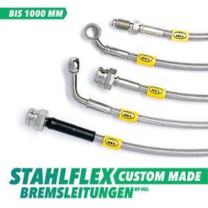 Stahlflex Bremsleitung individuell bis 1000mm - Edelstahl, inklusive Gutachten