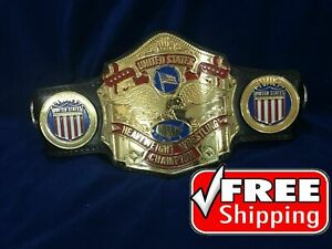 NWA US Heavyweight Championship Belt Gold Plating 4mm Zinc Adult Size