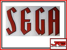 Old Sega Logo Vinyl Sticker in Black and Red