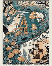 Dave Matthews Band Poster 7/26/2016 North Charleston SC Numbered #/575 Rare!!!