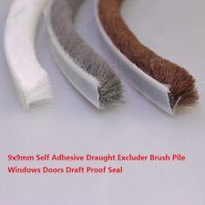 9x9mm Self Adhesive Draught Excluder Brush Pile Windows Doors Draft Proof Seal