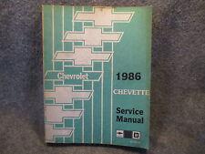 1986 Chevrolet Chevette Service Shop Repair Manual ST-389-86 Guide Book W676