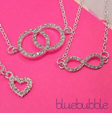 Love Hearts Rhinestone Round Costume Necklaces & Pendants