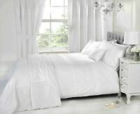 "Rapport ""Everdean"" Embroidered Floral Duvet Cover Bedding Set White"