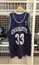 Vtg 90s Alonzo Mourning Charlotte Hornets Champion NBA Basketball Jersey A07