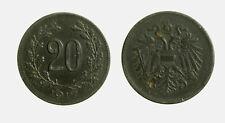 s729_93)  Österreich, Kaiser Karl I. 1916-1918, 20 Heller 1917 FERRO