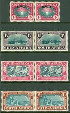SOUTH AFRICA : 1938-39. Stanley Gibbons #80-81, 84 Also SWA #117 No Gum. Cat £74