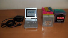 NINTENDO GAME BOY ADVANCE SP - Model No. AGS-001 - Silber + 15 Spiele! Color TOP