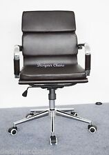 New Black Soft Pad Computer Office Chair Charles Eames Style