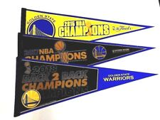3 (2015, 2017, 2018) 12x30 Golden State Warriors 3x Champs Steph Curry Pennant