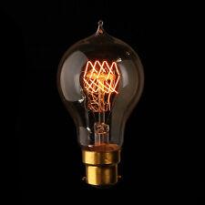 Bayonet B22 Edison Bulb Vintage Filament Incandescent Quad Loop Light Lamp