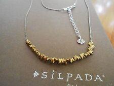 Silpada Sterling Silver & Brass Precious Pebbles Necklace - N3234