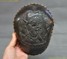 Rare Old Tibet buddhism silver Skull head Eight treasures Bowl Kapala Skull Cup