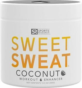 SWEET SWEAT COCONUT Jar 13.5oz Workout Enhancer Gel by Sports Research