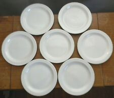 """Seven Midwinter STONEHENGE WHITE 7"""" BREAD & BUTTER PLATES England GOOD CONDITION"""