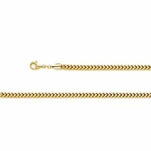Solid Genuine 14K Gold Franco Chain Necklace Pendant Bling Thick Heavy Wide