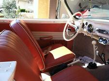 VW KARMANN GHIA SEDAN, ORIGINAL SEAT UPHOLSTERY FRONT/REAR 1956-60, BRICK RED!