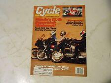 MARCH 1988 CYCLE MAGAZINE,HONDA GL/6GL1500 GOLD WING,BIMOTAS 750 YB4,,HARLEY,AMA