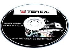 Terex TR100 Mining Truck Service, Maintenance, Shop, Workshop Manual