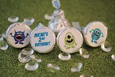 108 Monster Birthday Party Hershey Kiss Labels Stickers Favors