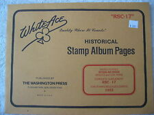 "1993 WHITE ACE STAMP ALBUM SUPPLEMENT "" RSC-17 "" USA REGULAR ISSUE SINGLES"