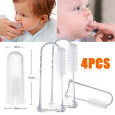 4pcs Baby Buddy Infant Finger Tooth/Gum Brush Silicone Toothbrush & Massager