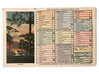 Sunset - Busy Tourist's Correspondence Card Postcard - July 7