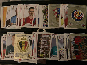 Panini World Cup 2018 Stickers Job Lot Bundle 92 Stickers no duplicates