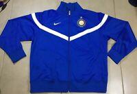 Vtg Mens Nike Inter Milan Blue Italy Soccer football Sz XL Track Jacket jersey
