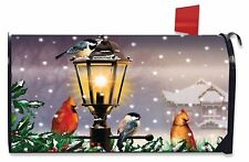 The Gathering Winter Large Mailbox Cover Lamp Post Cardinal Pair Oversized