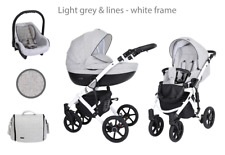 Baby Pram Mila 3 in1  Buggy Carrycot Car Seat Travel System Pushchair From Birth