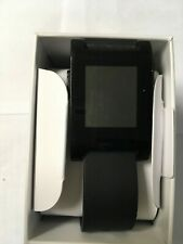 Pebble 301BL TPU Rubber Band Smartwatch - Jet Black works with Rebble software