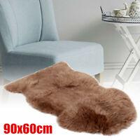 Sofa Fluffy Natural Sheepskin Carpet Rug Chair Cover Mat Seat Home Decor 60x90cm