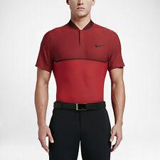 NIKE Red MM Fly Swing Knit Block Alpha Dri Fit Golf Polo Shirt Size XL NWT $100