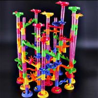 DIY Run Building Blocks Marble Race Game Christmas For Kid Construction Toy L5A6