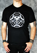 Cryoflesh 666 Satanic Occult Biohazard Goat Skull Cyber Gothic Shirt S-XXL